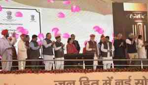 PM Modi in Barmer; says Cong and drought are 'twin brothers'