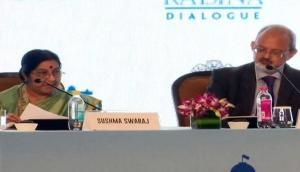 Sushma Swaraj talks tough on terrorism