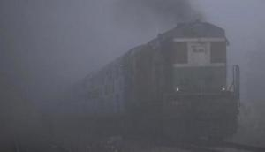 Dense fog shrouds Delhi, trains delayed