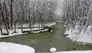 J&K: Tourists enjoy snowfall at Gulmarg