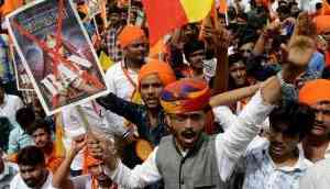 Protests ahead of Padmaavat release; Raj govt wants royals to be a party in SC
