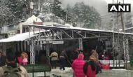 Heavy snowfall at Vaishno Devi