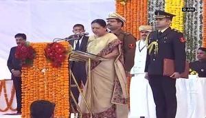 Anandiben Patel sworn in as Madhya Pradesh Governor