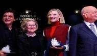 SRK poses with Cate Blanchett after receiving 24th Crystal Award