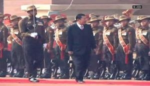 Ceremonial welcome for Cambodian PM at Rashtrapati Bhawan