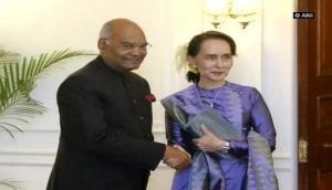 Aung San Suu Kyi calls on President Kovind