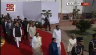 बजट 2018: राष्ट्रपति के अभिभाषण में दिखी न्यू इंडिया की झलक, भारत माता के नारों से गूंजा सेंट्रल हॉल