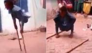 दिव्यांग युवक ने बिना पैरों के किया देशी डांस, वीडियो वायरल