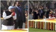 Sonia Gandhi, Manmohan Singh pay homage to Mahatma Gandhi