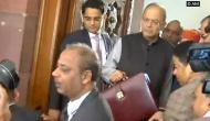 Budget 2018: Finance minister Arun Jaitley arrives in Parliament on big day