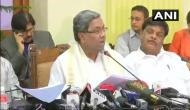Karnataka crisis: Congress leader Siddaramaiah to request the suspension of 4 dissenting MLA's of Congress