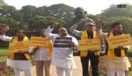 TDP MPs continue to protest against Union Budget