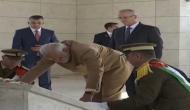 PM Modi lays wreath at mausoleum of Yasser Arafat