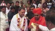 'चुनावी हिंदू' राहुल गांधी का कर्नाटक चुनाव प्रचार शुरू, पहुंचे मंदिर और मठ