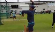 VIDEO: धोनी ने संभाला गेंदबाजी का मोर्चा, लेग स्पिन कर बल्लेबाजों को चौंकाया