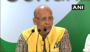 Aiyar has no right to speak on Congress' behest: Singhvi