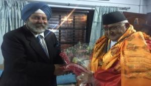 Nepal PM Oli meets India's ambassador to Nepal