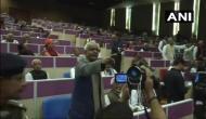 RJD creates ruckus in Patna event alleging Sushil Modi of taking jibe at Lalu