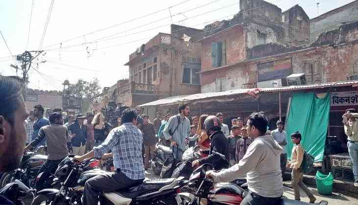 Exclusive: Dev Patel spotted shooting at Jaipur's busy Ghat Gate
