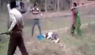 पति को बचाने के लिए डंडा लेकर हमलावरों से भिड़ गई पत्नी, वीडियो वायरल