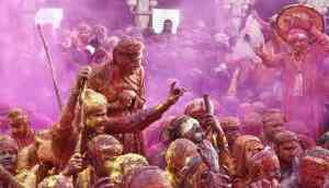 In photos: Mathura's Special Lathmar Holi, festival of sticks and color