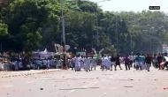 Kerala: Congress workers protest outside Secretariat