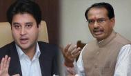 Congress leader Jyotiraditya Scindia meets former MP CM Shivraj Singh Chouhan