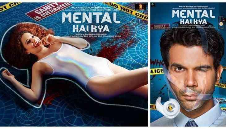 Kangana Ranaut and Rajkummar Rao go insane in Mental Hai Kya poster!