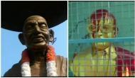 Gandhi's statue damaged, one man arrested