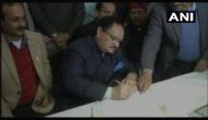 Rajya Sabha election: J P Nadda files nomination from HP