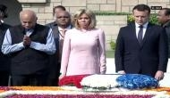 French President visits Rajghat