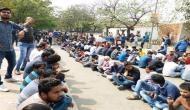 SSC Scam: धरना दे रहे छात्रों ने की शोकसभा, कमीशन की मनाई तेहरवीं