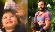 Taimur enjoys a walk with father Saif Ali Khan, see pictures that went viral