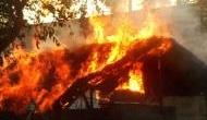 Fire in Delhi's Yamuna Khadar slum cluster