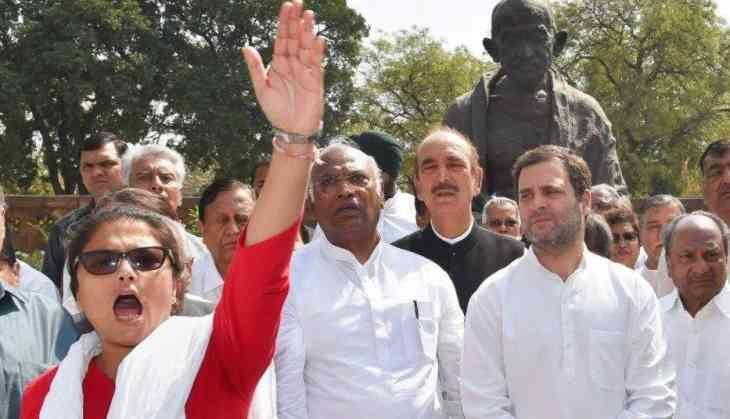 Congress protests inside Parliament over SC/ST Act