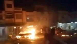 Man drives burning truck away from petrol pump to save lives