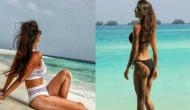 दिशा पाटनी ने कराया स्विमिंग कॉस्ट्यूम में हॉट फोटोशूट, देखें तसवीरें