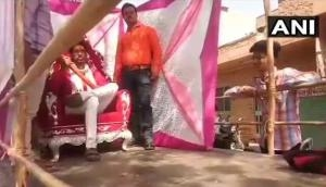 राम नवमी के मौके पर निकाली हत्यारोपी शंभू रैगर की झांकी