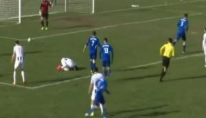 OMG! This football player died after a ball struck him on his chest; See the video