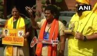 विरोध का नायाब तरीका, नारद मुनि बनकर संसद पहुंचे तेदेपा सांसद