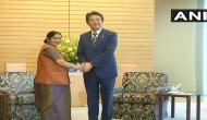 Sushma Swaraj meets Japanese PM Shinzo Abe, stresses on friendly ties
