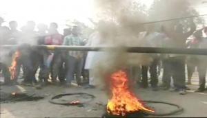 भारत बंदः करणी सेना और प्रदर्शनकारियों में हुई हिंसक झड़प, कई घायल