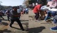 बेशर्मी: भारत बंद के दौरान बुजुर्ग की पिटाई करने के बाद दुकान लूटी, सोशल मीडिया में वीडियो वायरल