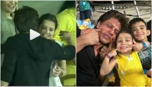 KKR vs CSK, IPL 2018: After Kolkata Knight Riders defeat, CSK skipper MS Dhoni's wife Sakshi said something to SRK, see video