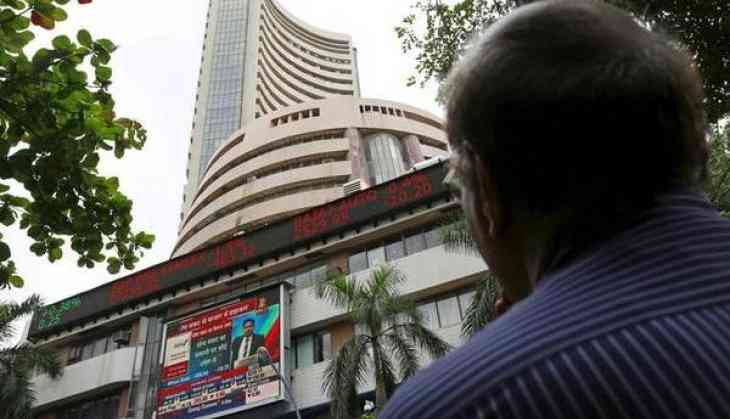 Sensex surges over 200 points, Nifty above 10500