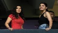 RCB vs KXIP, IPL 2018: Anushka Sharma cheers for hubby Virat Kohli, meets Preity Zinta; see pics