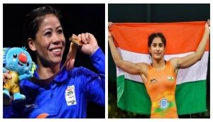 CWG 2018: Wishes are pouring in for Mary Kom, Vinesh Phogat, the gold medal winners for their excellent performance; see how Twitterati reacted