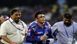 IPL 2018: पांड्या ने मारा ऐसा थ्रो कि बॉल लगते ही मैदान पर गिर पड़े ईशान किशन, देखें वीडियो