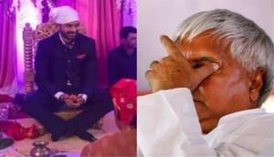 Lalu Prasad Yadav's eldest son Tej Pratap gets engaged to Aishwarya Rai; regrets the absence of jailed father