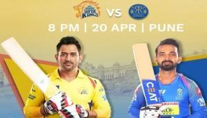 IPL 2018: बैन खत्म होने के बाद पहली बार आपस में भिड़ेंगी चेन्नई और राजस्थान